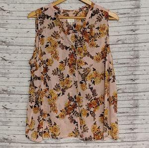 A New Day Womens Sz: XXL Peach W/ Yellow Flowers S